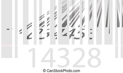 Scanning barcodes loopable 4K animation