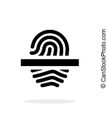 Scanning finger icon on white background.