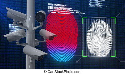 Scanning fingerprint and data processing with monitoring ...