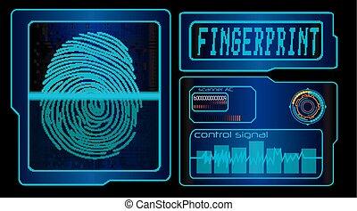 Scanning human fingerprint tech