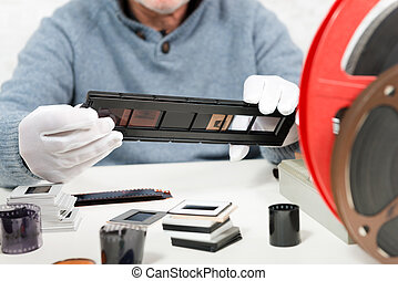 scansione, trasformare, diapositive, digitale, film, dati