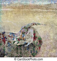 Scapegoat - Goat. Photo based illustation. The scapegoat was...