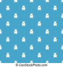 scarabée, modèle, bleu, seamless