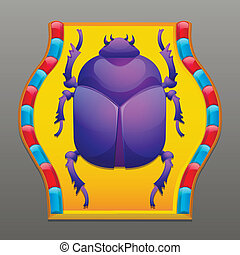 Scarab beetle - Decorative, ancient, egyptian scarab beetle
