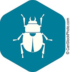 Scarab icon, simple style
