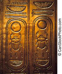 scarabaeus, hieroglyphics, -, エジプト人