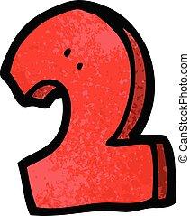 scarabocchiare, 2, cartone animato, numero