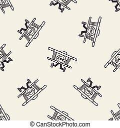 scarabocchiare, aereo giocattolo