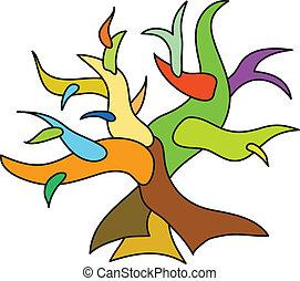 scarabocchiare, albero
