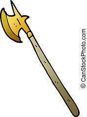 scarabocchiare, arma, cartone animato, medievale