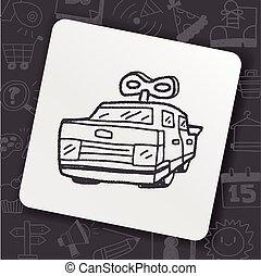 scarabocchiare, automobili giocattolo
