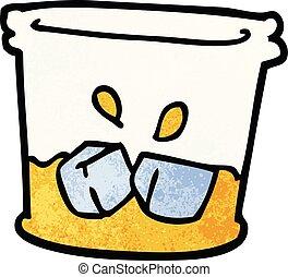 scarabocchiare, bevanda, cartone animato, acrobata, vetro
