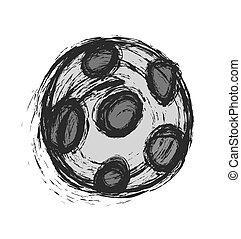 scarabocchiare, calcio, vettore, palla