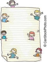 scarabocchiare, carta, bambini
