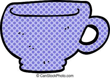 scarabocchiare, cartone animato, tazza