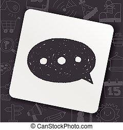 scarabocchiare, dialogo