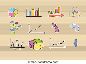 scarabocchiare, finanza, affari, mano, disegnato