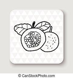 scarabocchiare, frutta, passione