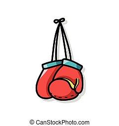 scarabocchiare, guantoni da box