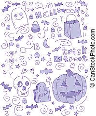 scarabocchiare, halloween