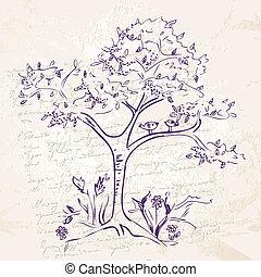 scarabocchiare, hand-drawing, albero