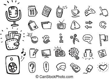 scarabocchiare, icone fotoricettore