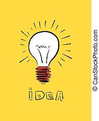 scarabocchiare, illustrazione, icona, vettore, idea