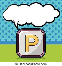 scarabocchiare, lotto, parcheggio