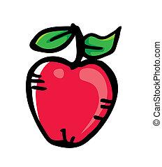 scarabocchiare, mela