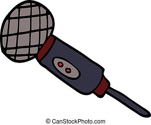 scarabocchiare, microfono, cartone animato