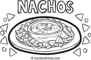 scarabocchiare, nachos