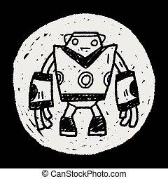 scarabocchiare, robot