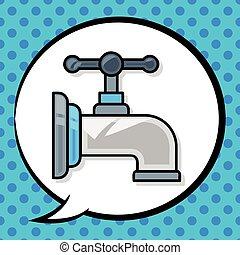 scarabocchiare, rubinetto