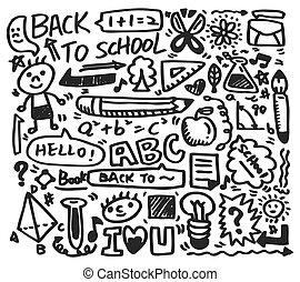 scarabocchiare, scuola