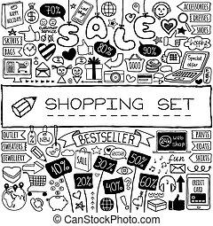 scarabocchiare, set., shopping