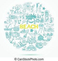 scarabocchiare, spiaggia