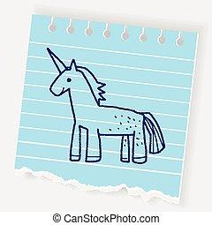 scarabocchiare, unicorno