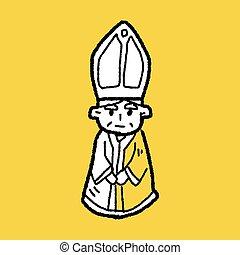 scarabocchiare, vescovo