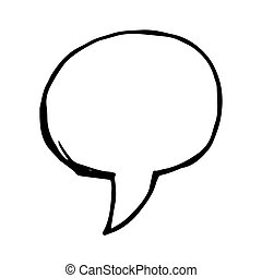 scarabocchiare, vettore, bolla discorso