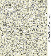 scarabocchiare, xxl, set, no.2, icone