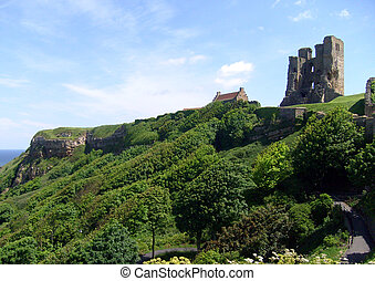 Scarborough Castle view - View of Scarborough's Norman ...