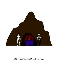 Scare Cave Icon. Editable Outline With Color Fill Design. ...