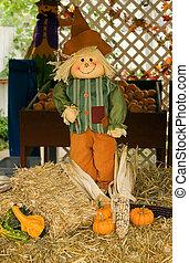 Scarecrow - A homemade decorative scarecrow.