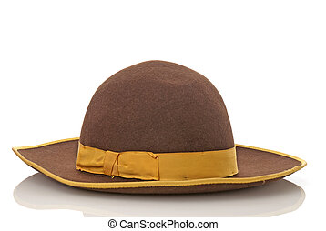 Scarecrow brown felt hat with with
