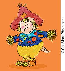scarecrow., dia das bruxas