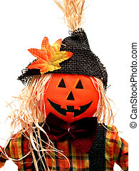 Scarecrow - Fall colored pumpkin head scarecrow. Shot with...