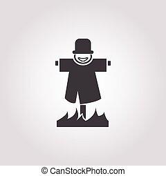 scarecrow icon on white background