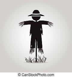 Scarecrow icon sign