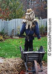 Scarecrow in a garden