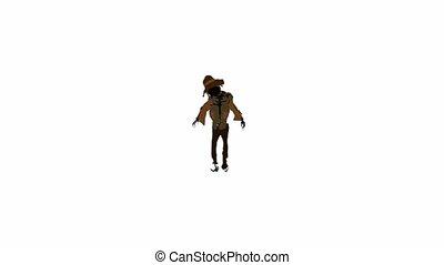 Scarecrow on a white background